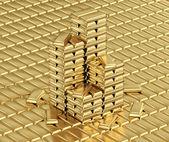 金の延べ棒 — ストック写真