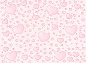 Valentine card hearts vector background — Stock Vector