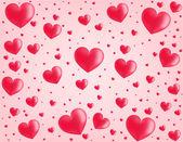 Tło valentine karty serca — Wektor stockowy