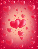 Valentine card hearts vector illustration — Stock Vector