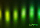 Vector Illustration of a Green Music Equalizer — Stock Vector