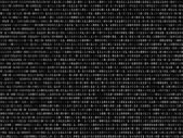 Blink binary code screen black — 图库矢量图片