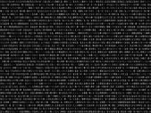 Blink binary code screen black — Stock Vector