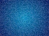 Blue screen binary code screen — Stock Vector