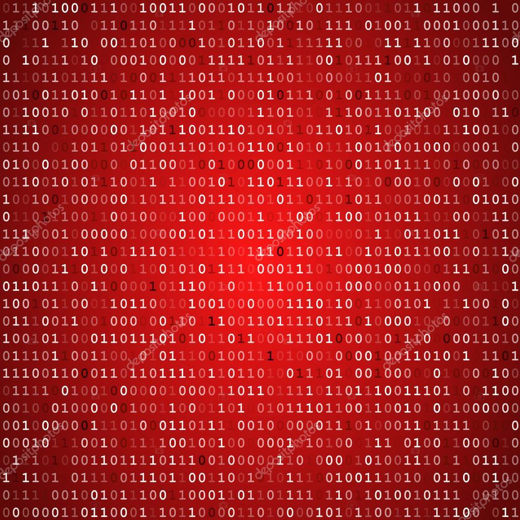 Red screen binary code screen — Stock Vector © iunewind ...