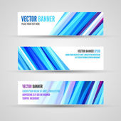 Vector banners blue ocean — Wektor stockowy