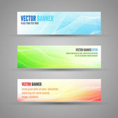 Vector colored banners — Stock Vector