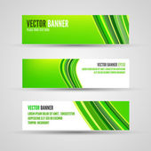 Vector banners green lines — Stock Vector