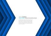 Abstract blue arrow brochure design — Vector de stock