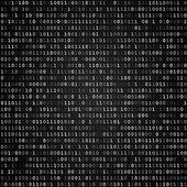 Binary code screen black — Stock Vector