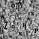 Vector Alphabet Background — Stock Vector
