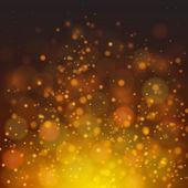 Vector abstract fire bokeh background — Stock Vector