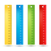 Rulers in centimeters — Stock Vector