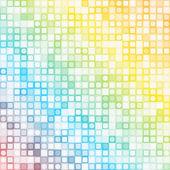 抽象的な正方形のピクセルのモザイクの背景 — ストックベクタ