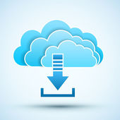 Cloud  icon. Vector illustration — Stock Vector