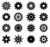 Gear cogs wheels icons set — Stockvektor