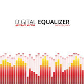 Graphic equalizer background — Stock Vector
