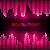 Equalizer on abstract technology background — Vecteur