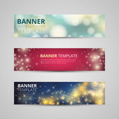 A set of modern vector banners — Vettoriale Stock