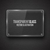 Marco de cristal. ilustración vectorial. — Vector de stock