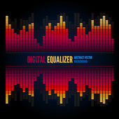 Equalizer on abstract technology background — Vector de stock