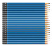 Blue pencils set — Stock vektor