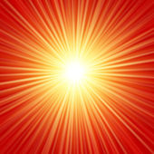 Realistic sun burst with flare. Vector illustration with spare for your text. — Stock Vector