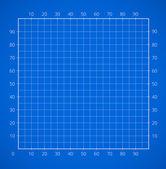 Blueprint squared paper sheet. — Stock Vector