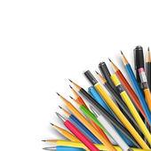 Mass pencils — Stock Vector
