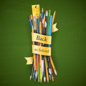 Batch of pencils — Stock Vector