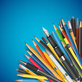 Mass pencils — Stockvektor