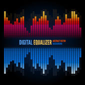 Equalizer on abstract technology background — Stock Vector
