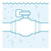Industrial tap — Stock Vector