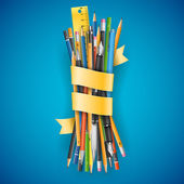 Batch of pencils — Stock Vector
