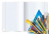 Penne e blocco note — Vettoriale Stock