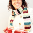Portrait of smiling woman in christmas — Stock Photo
