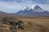 Volcanoes of Kamchatka — 图库照片