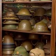 Stock Photo: Helmets of different types of troops