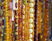 Amber beads — Stock Photo