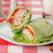 Turkey club wrap — Stock Photo