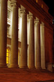Roman columns at night — Stock Photo