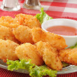 Coconut shrimp closeup - Stock Photo
