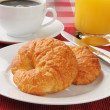 Stock Photo: Fresh buttery croissants