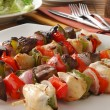 Beef and chicken kebabs — Stok fotoğraf