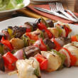 Beef and chicken kebabs — Stock Photo