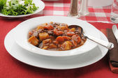 Bowl of beef stew — Stock Photo