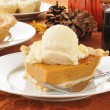 Pumpkin pie with mulled wine — Stock Photo