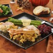 Holiday turkey dinner — Stock Photo #13165417