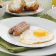 Sausage and eggs — Stock Photo #13553994