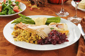 Turkey dinner — Stock Photo